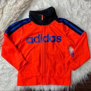 2T Adidas Zip Up Orange Track Jacket